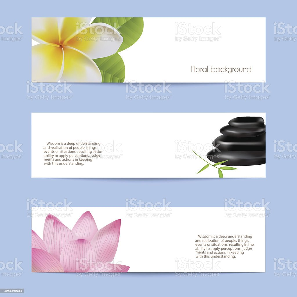 Set of card in spa style. vector art illustration