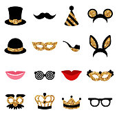 Set of Carnival Icons and Objects