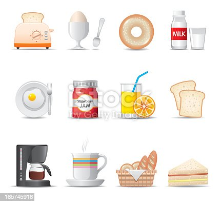 Elegant breakfast food icon can beautify your designs & graphic