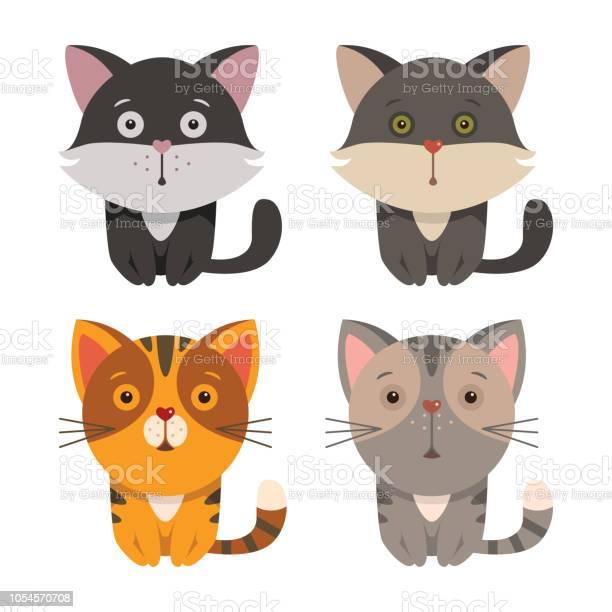 Set of cartoon cats vector id1054570708?b=1&k=6&m=1054570708&s=612x612&h=x7l7gyllko0lpa8p90d5sddiz49vtrxpy7srlq6x0 c=