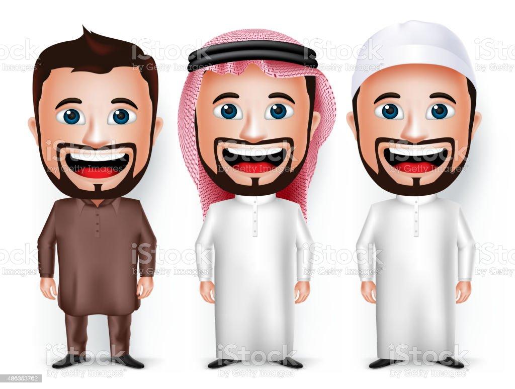 Cartoon Characters Clothes : Set of cartoon character dress for saudi arabian and