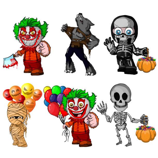 M A S K Cartoon Characters : Royalty free killer clown clip art vector images