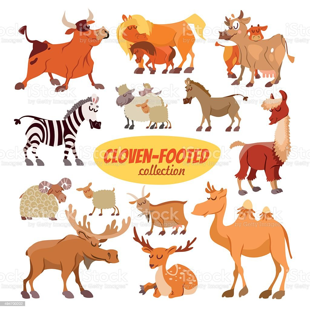 Set di Fumetto clowen animali-stabilità - illustrazione arte vettoriale