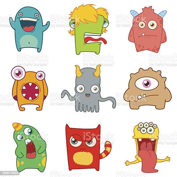 Set of cartoon cute monsters vector id639576302?b=1&k=6&m=639576302&s=612x612&h= pznhcja6m0dqobkclcne1qacqusimgawiipa4ucc e=