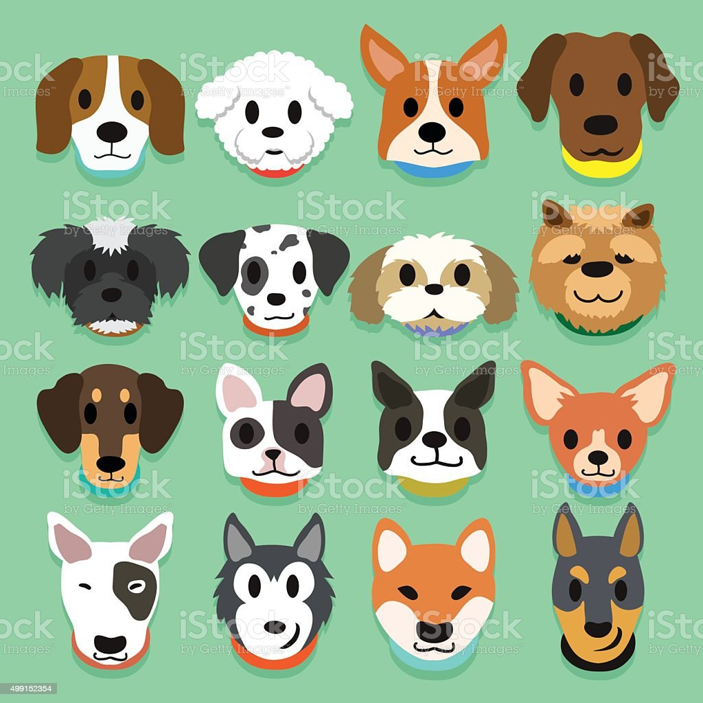set of cartoon dogs stock vector art more images of 2015 499152354