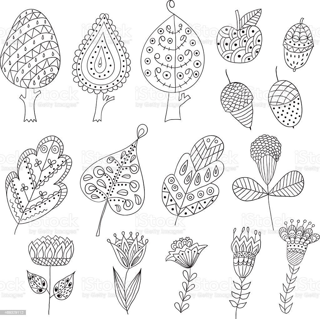 Ilustración De Conjunto De Dibujos Animados De Doodle