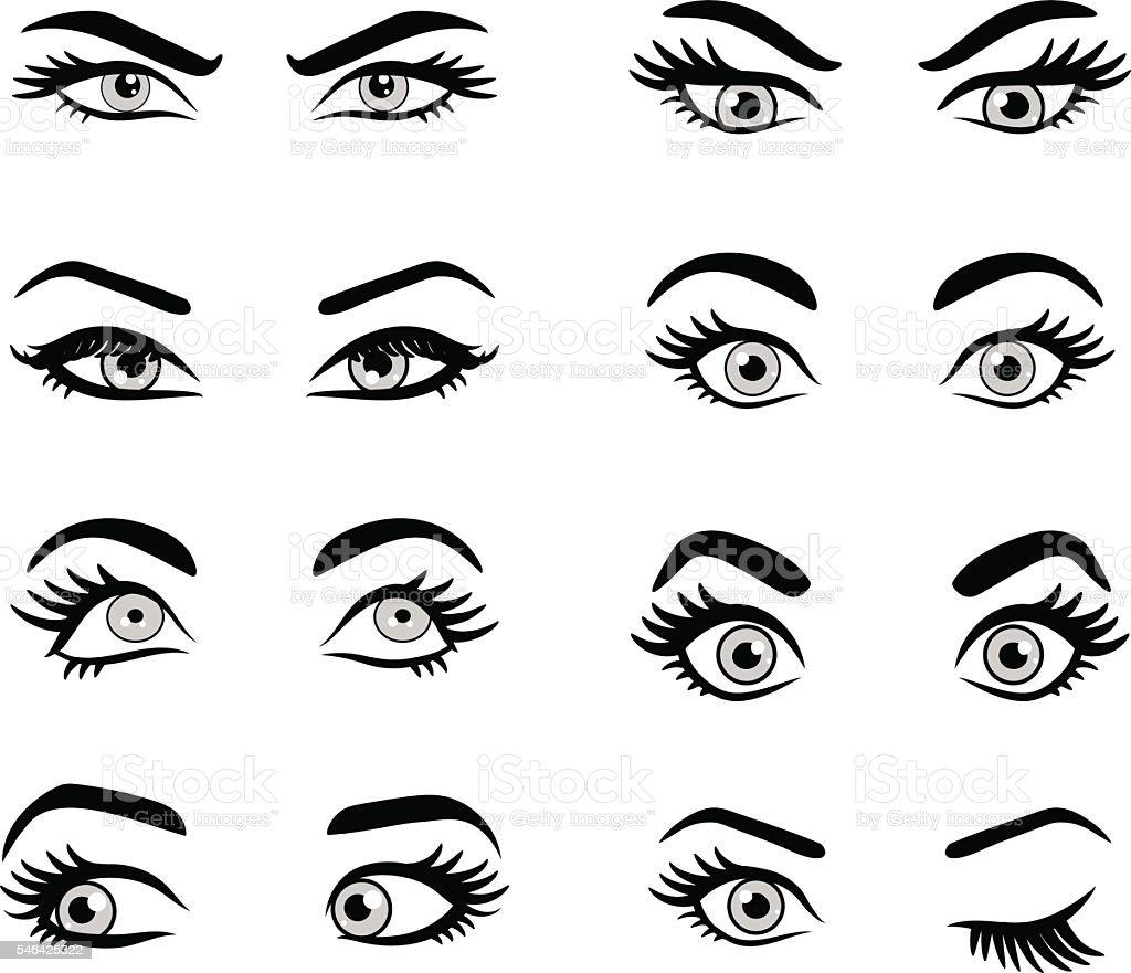 Set of cartoon eyes. – Vektorgrafik
