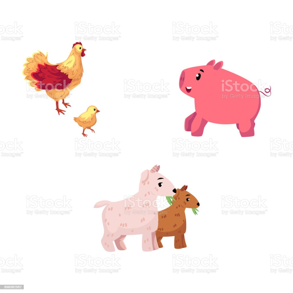 Clipart of a Cow Pig and Chicken by a Bbq Smoker - Royalty Free Vector  Illustration by LaffToon #1215648