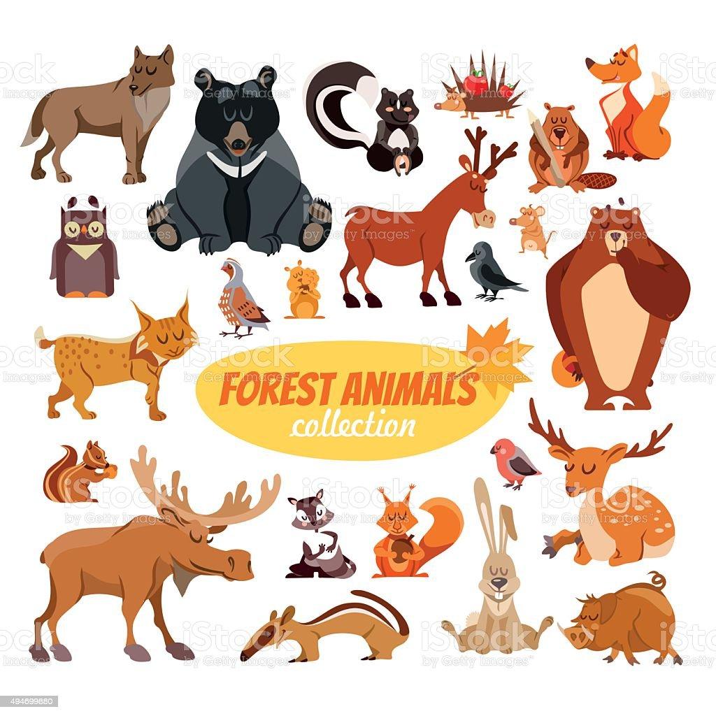 カットイラスト森の動物 - 2015年のベクターアート素材や画像を多数ご