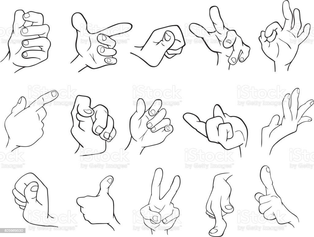 Tecknade Bilder På Händer