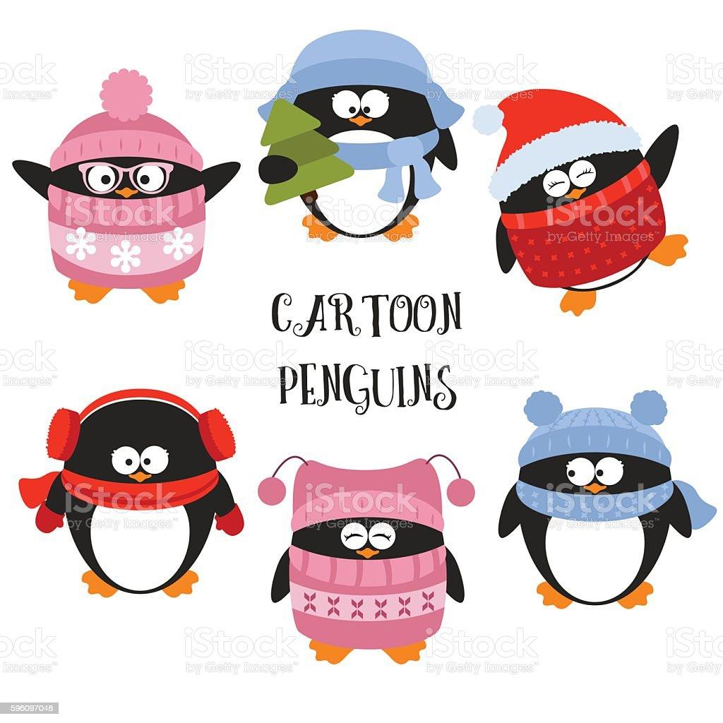 Set of cartoon penguins royalty-free set of cartoon penguins stock vector art & more images of animal