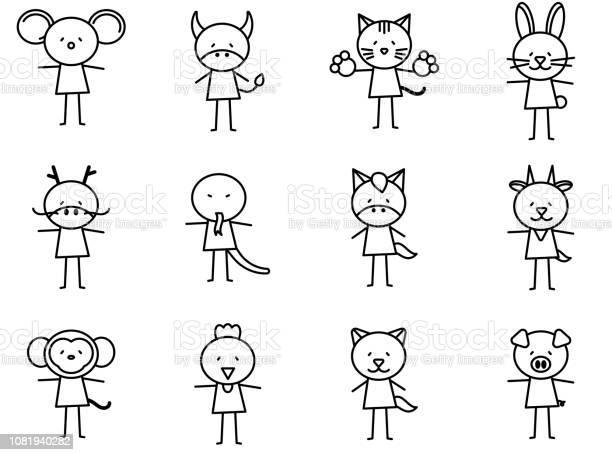 Set of cartoon simple line charactor in chinese zodiac icon concept vector id1081940282?b=1&k=6&m=1081940282&s=612x612&h=gdmncw7v6f6k6pwev61dgzihnpid05kfovxt2s9ljum=