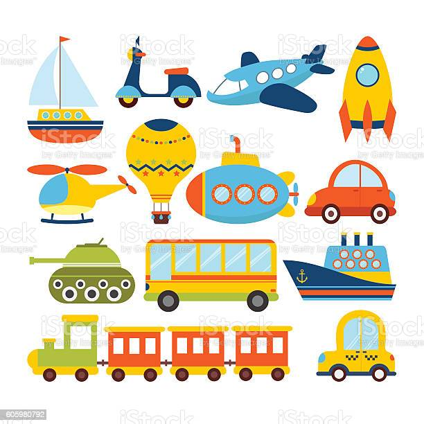 Set of cartoon transport transportation theme vector id605980792?b=1&k=6&m=605980792&s=612x612&h=rosj8pnszxy1jeaaz9zglh2gawbbgwaq8wljafd2lhu=