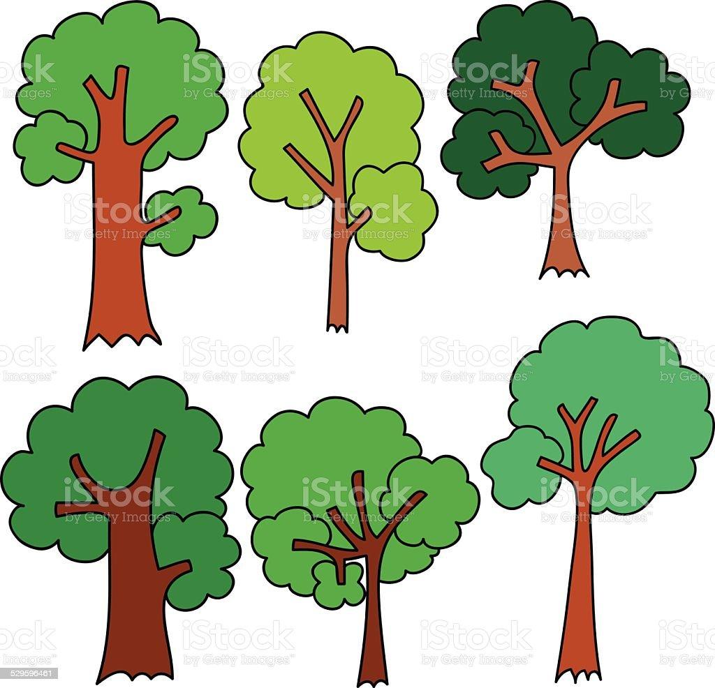set of cartoon trees stock vector art 529596461 istock