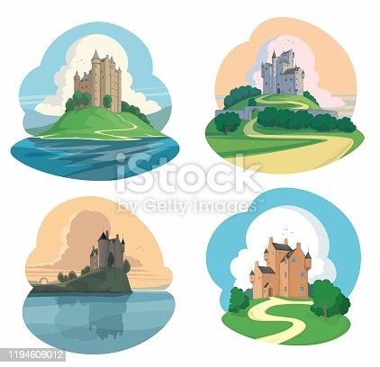 Illustration of a set of Castles.