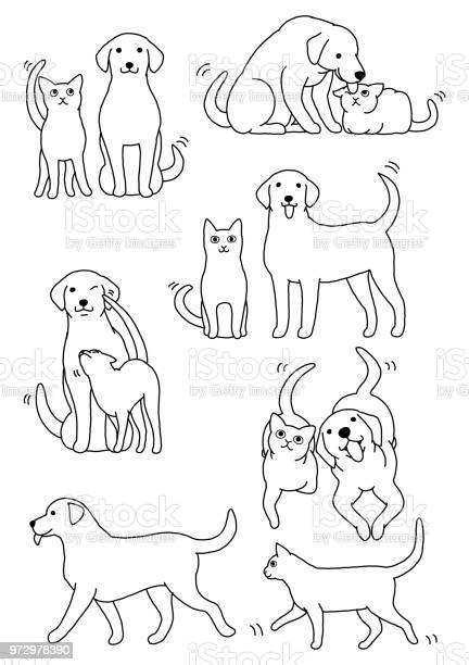 Set of cat and dog pairs vector id972978390?b=1&k=6&m=972978390&s=612x612&h=gebhnrckd84zv2q uj35ab l1uw9 weekrfsj1tah34=