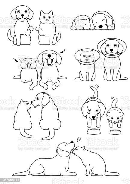 Set of cat and dog pairs vector id987958114?b=1&k=6&m=987958114&s=612x612&h=eoe3tyi3dfpabzvjgw kjgrrctrbgoj5fo z6aki06u=