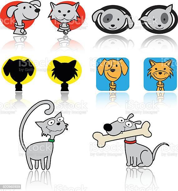 Set of cats and dogs icons vector illustration vector id520965939?b=1&k=6&m=520965939&s=612x612&h=mntest5mrypi925yuk 87xc8rngqboru athz1jru m=