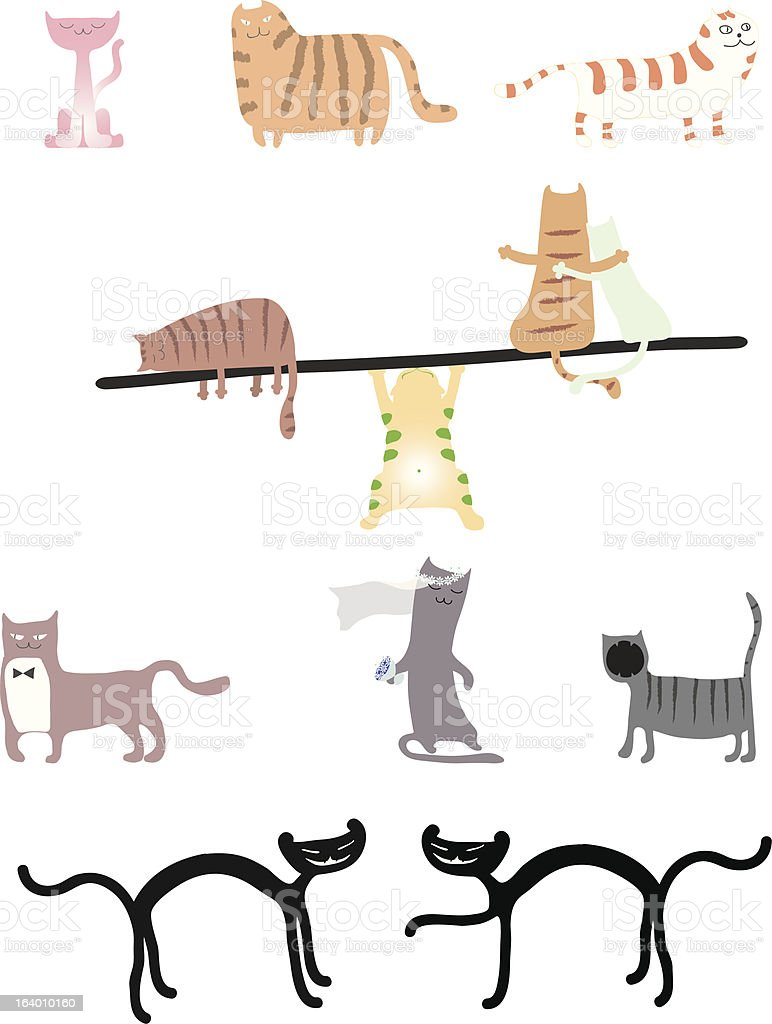 Set of cats royalty-free set of cats stock vector art & more images of animal