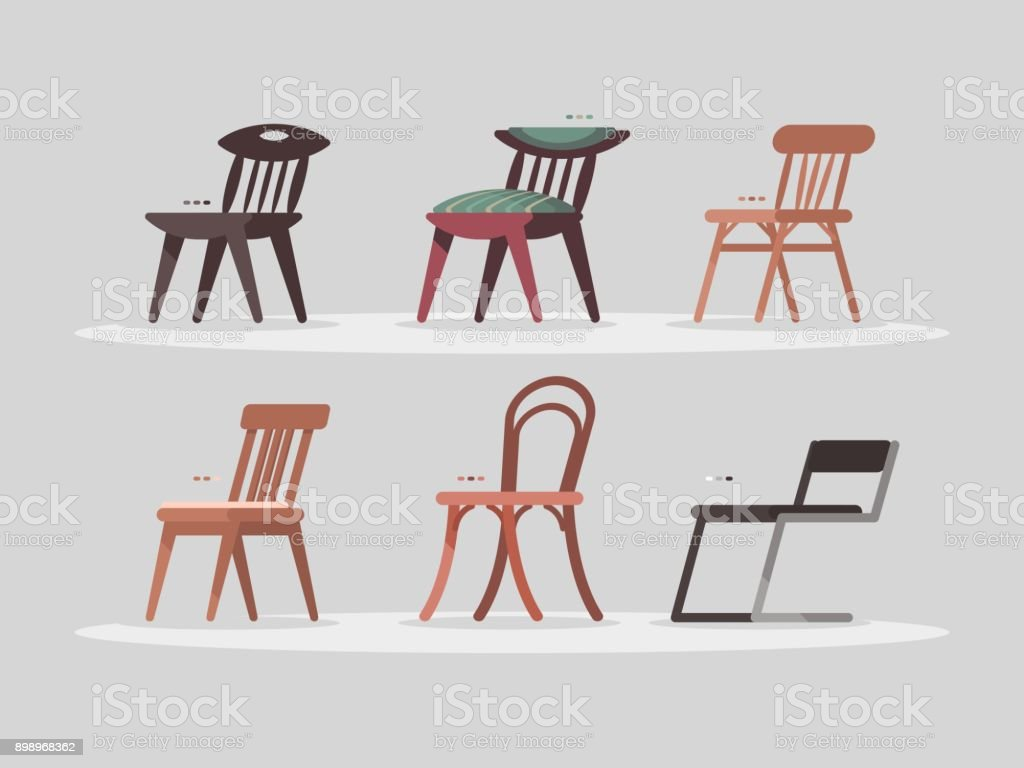 Ensemble de chaises pour maison et intérieur de bureau u cliparts
