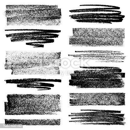 Vector set of chalk strokes