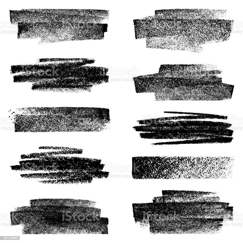 Satz von Kreide Bewegungen – Vektorgrafik