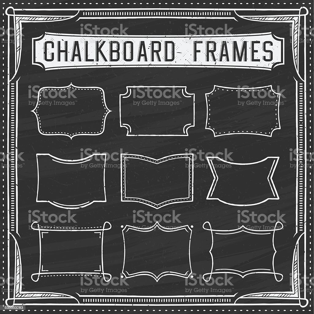 Set of Chalkboard Frames - Design Elements - Illustration vector art illustration