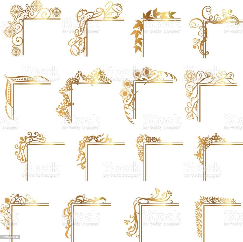 Set de decoración de carácter - ilustración de arte vectorial