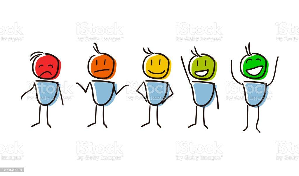 Zeichensatz Konzeptualisierung Umfrage Bewertung Analyse Feedback ...