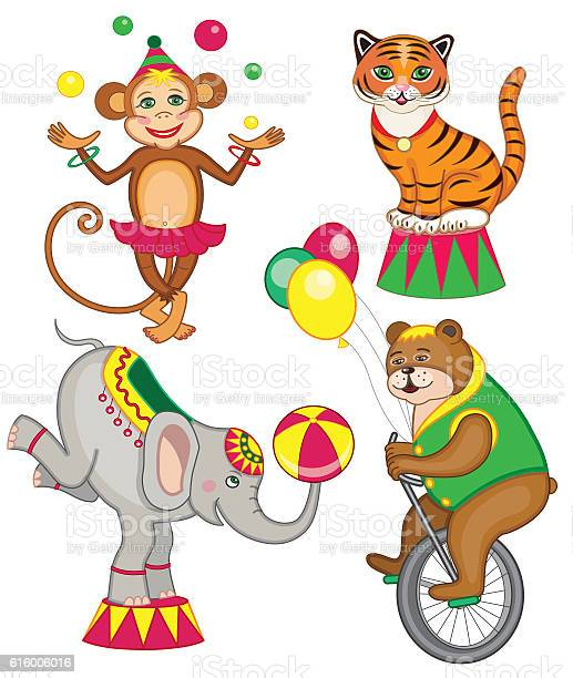 Set of cheerful circus animals vector id616006016?b=1&k=6&m=616006016&s=612x612&h=cwics po 2siqwk5 bmxoe6z vg6tfbnkmbakybfeas=