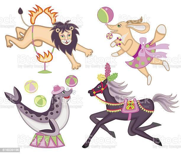 Set of cheerful circus animals vector id616009196?b=1&k=6&m=616009196&s=612x612&h=pmsjn blw8kfv7bw9hfl1kw8h9k6lkg6eouajlphglo=