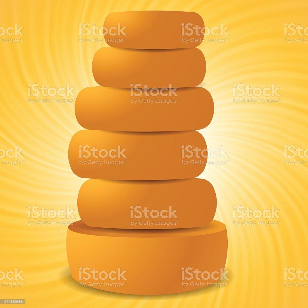 set of cheeses vector art illustration