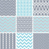 Set of chevron seamless patterns