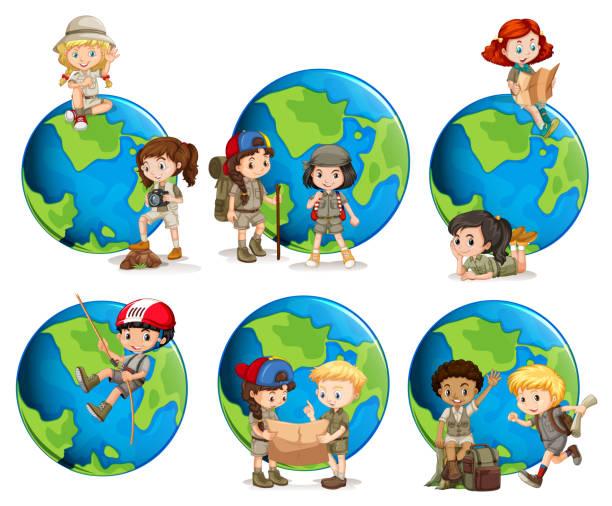 Best Child Explorer Illustrations, Royalty-Free Vector ...