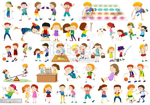istock Set of children character 1140071296