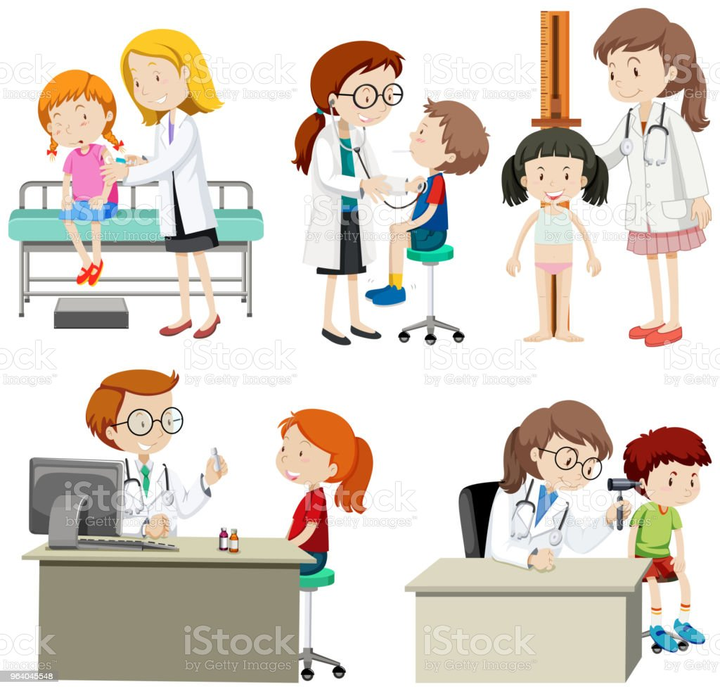 A Set of Children Check Up - Royalty-free Adult stock vector