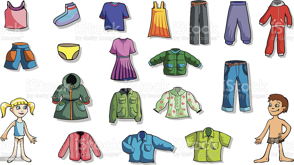 Set of children clothes royalty-free set of children clothes stock vector art & more images of adult