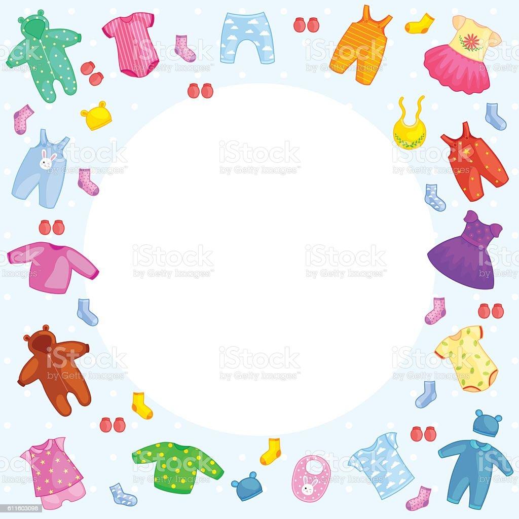set of children clothes. vector  illustration vector art illustration
