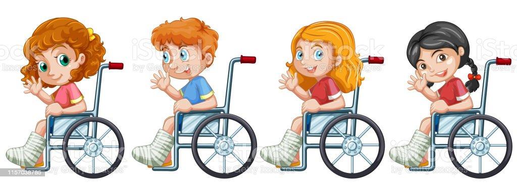 dibujo juegos con niños en silla de ruedas