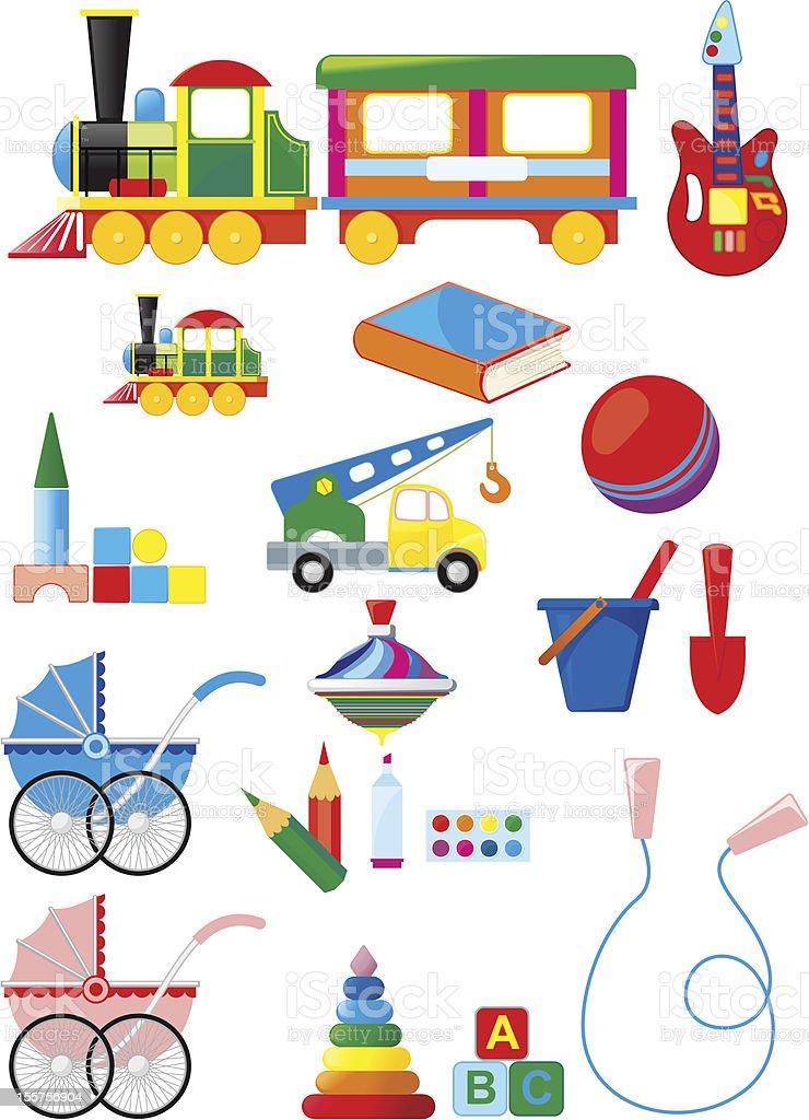 Set of children toys royalty-free stock vector art