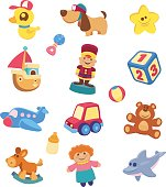 15 vector characters of toys for children.