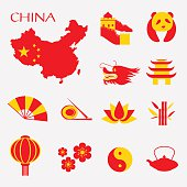 Set of China Infographic icons