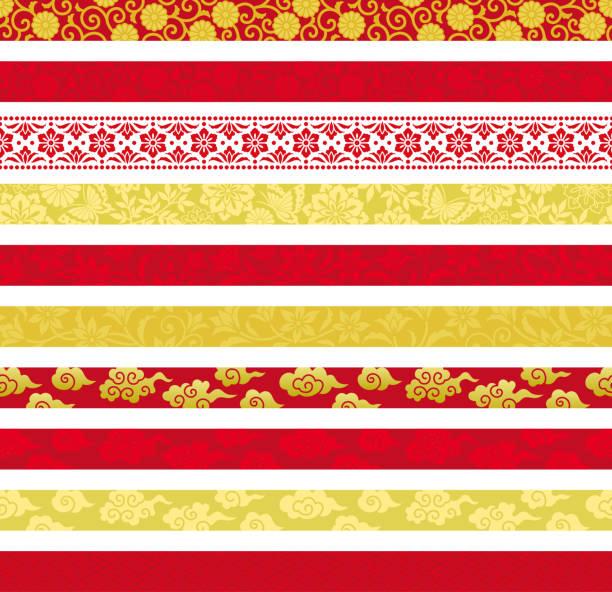 中国の装飾的な旗のセット。 - 中国点のイラスト素材/クリップアート素材/マンガ素材/アイコン素材