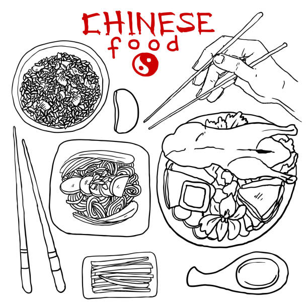 Royalty Free Chinese Food Clip Art, Vector Images ...