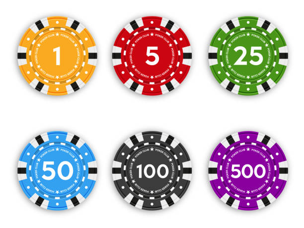 Set of chips for poker and casino. Set of chips for poker and casino. Realistic vector illustration. gambling chip stock illustrations