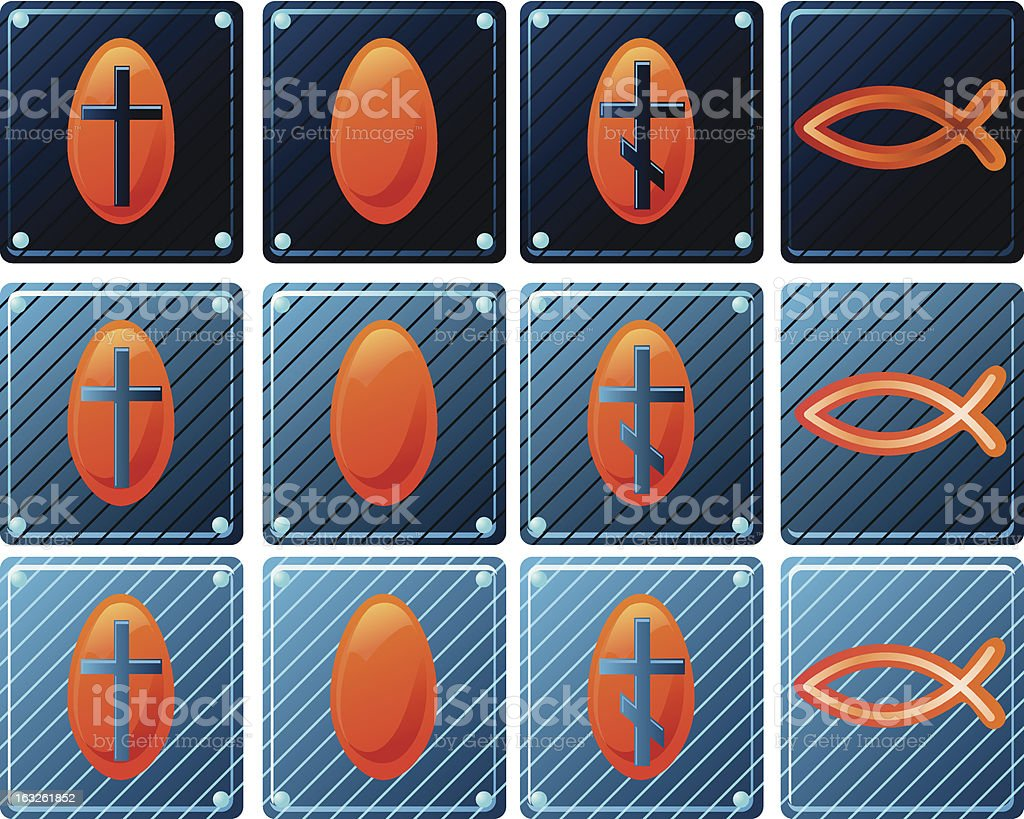 Set of Christian icons for web royalty-free stock vector art