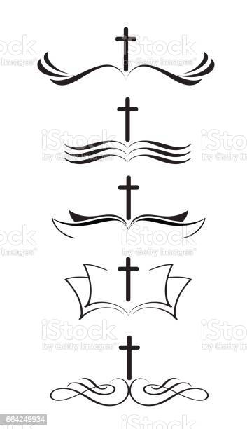 Set of christian logos cross and bible stylized hand drawn vintage vector id664249934?b=1&k=6&m=664249934&s=612x612&h=sb0js4c5dh0zsexvdgjosrt s1qyj8opdhaz3bmjdcq=