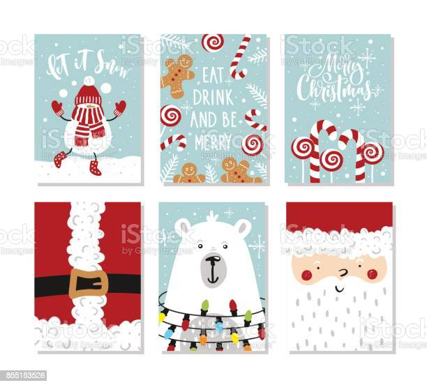 Set of christmas and new year greeting cards vector illustration hand vector id855153526?b=1&k=6&m=855153526&s=612x612&h=t9tnxkw5iamtnpjim98u 9 ahotodhe9d3tj2k2lb0e=