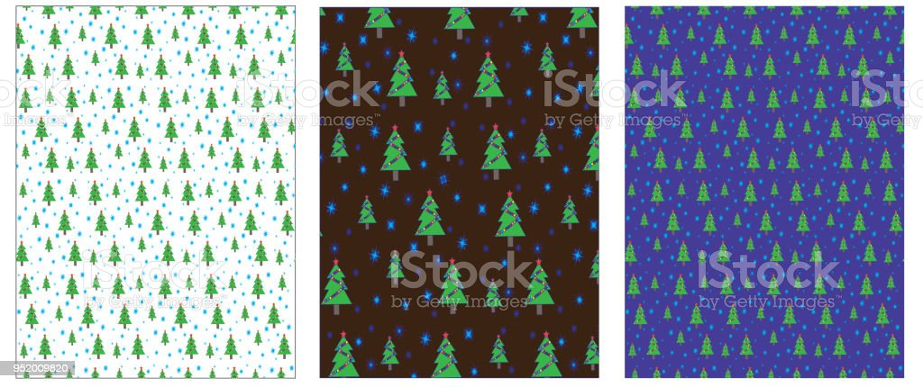 Set of Christmas (New year) background, wrapping paper, vector vector art illustration