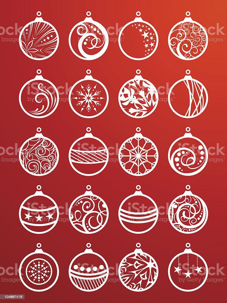 Set of Christmas balls royalty-free set of christmas balls stock vector art & more images of abstract